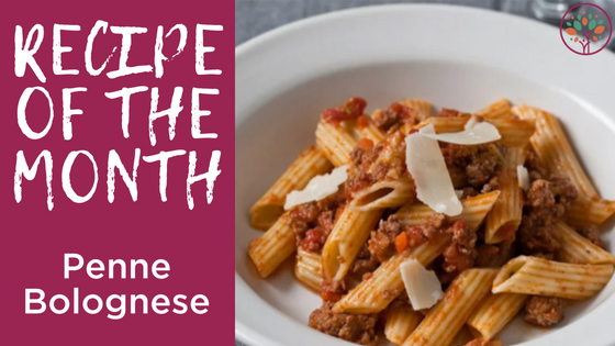 Kids Recipe of the Month - Penne Bolognese