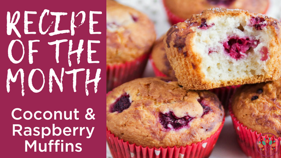 Coconut and Raspberry Muffins Recipe