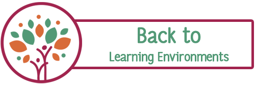 Back button to child care learning environments page